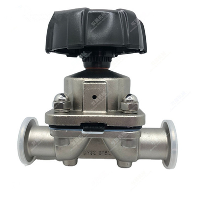 Sanitary Stainless Steel Tri Clamp Diaphragm Valve Manually Operated