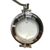 Stainless Steel Manual Hygienic Powder Butterfly Valve Butt Welded Ends