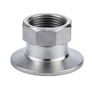 SS304 Hexagon G Threaded Female x Clamp Adapter Stainless Steel