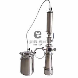 1LB Stainless Steel Jacketed Top Fill Closed Loop Extractors w/Dewaxer Column and Solvent Tank