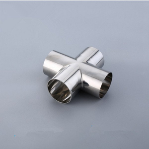 Sanitary SMS Weld Cross-Stainless Steel 304/316L