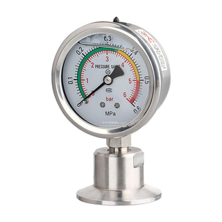 Sanitary 1.5in. Tri Clamp Diaphragm Pressure Gauge SS304 Stainless Steel