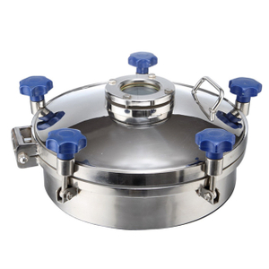 Sanitary Stainless Steel Round Pressure Tank Manhole with Flange Sight Glass