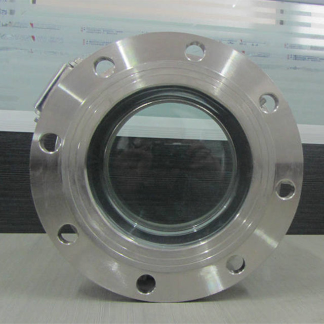 Sanitary 4inch Round Flange Sight Glass Manhole with Nut Ring