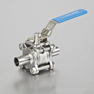 Sanitary Stainless Steel Bolted Encapsulated Ball Valve Weld Ends