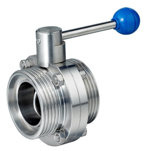 Sanitary Stainless Steel Manual External Threaded Butterfly Valve