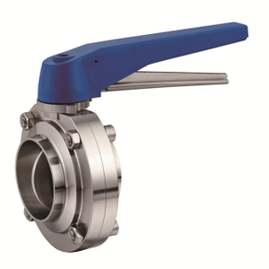 Sanitary Manual Welded Butterfly Valve EPDM Sealing Stainless Steel