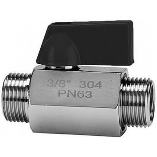 PN63 Mini Ball Valve Male Ends SUS304 SUS316