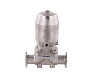 Stainless Steel Pneumatic Actuated Hygienic Diaphragm Valve with Tri-Clamp Ends