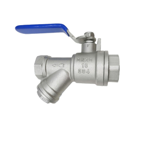 Stainless Steel Threaded Ball Valves with Easy Access Strainer