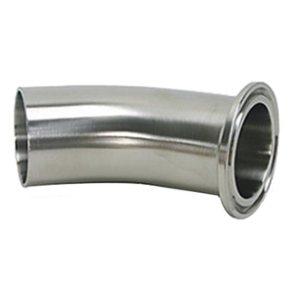 Sanitary Tri Clamp to Weld 45 Degree Elbow-Stainless Steel 304/316L