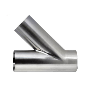 Sanitary Stainless Steel Weld 45 Degree Lateral Y