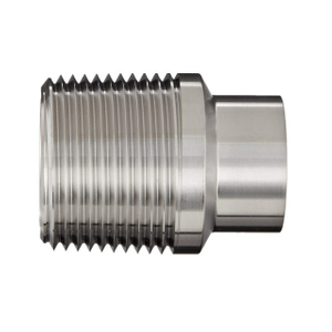 Sanitary MPT Fitting Butt Welded NPT Male Adapter
