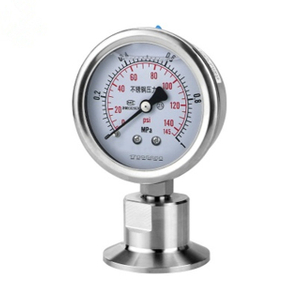 Sanitary SS316 Stainless Tri Clamp Diaphragm Manometer