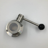 Stainless Steel Tri Clamp Manual Sanitary Butterfly Valve Pull Handle