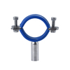 Sanitary Stainless Steel Round Tube Hanger with Blue Silicon Insert