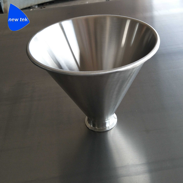 Stainless Steel SS316 Conical Hopper With Tri-Clamp Ferrule Mounting