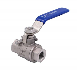 "Full Port Ball Valve Stainless Steel 304 for Water, Oil, and Gas with Blue Locking Handles (1/2""NPT)"