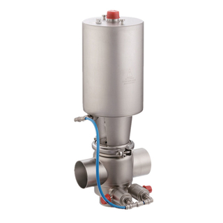 Sanitary Stainless Steel Dairy Pneumatic Mix-proof Valve with CIP Cleaning Valve