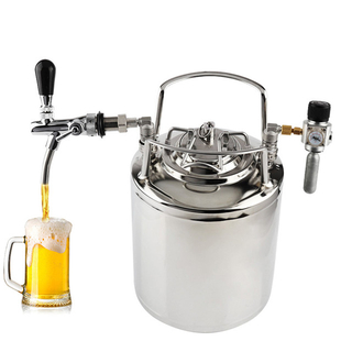 Stainless Steel 6L Mini Beer Keg w/ Complete Tap Dispenser