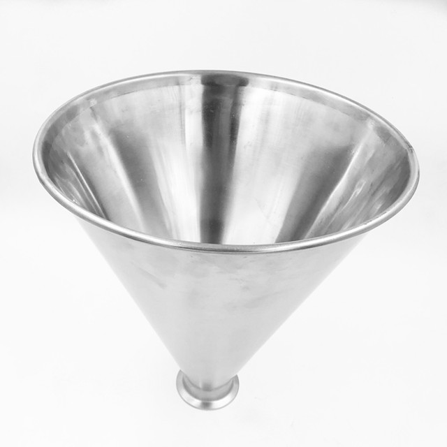 Stainless Steel Funnel Hopper Dimensions Table
